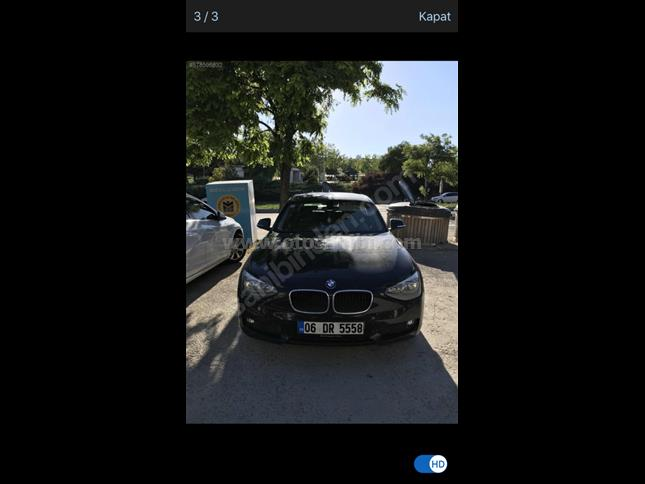 HATASIZ 2013 model BMW 116d ED 70000 km